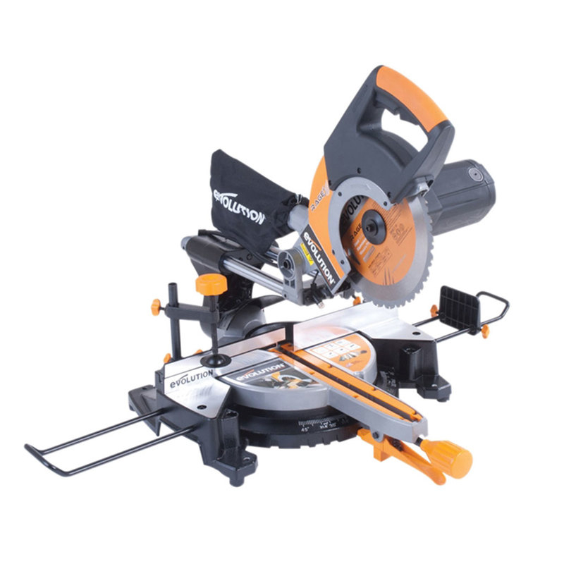 255mm TCT Compound Mitre Saw 240V Evolution 255SMS