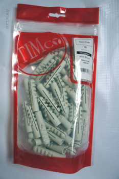 TIMBAG 08NLPB BAG=100 NYLON WALL PLUGS 8MM