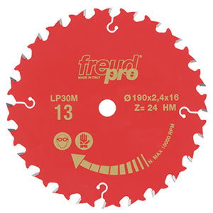 CIRCULAR SAW BLADE 125 X20 24T G.PURPOSE LP30M-001 F03FS03636
