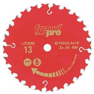 CIRCULAR SAW BLADE 170 X30 24T G.PURPOSE LP30M-009 F03FS03646