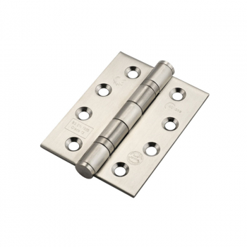 BALL BEARING BUTT HINGES(PAIR) SATIN/ST 102X76X3 14854