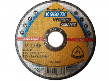 KLINGSPOR 328885 115X1MM CERAMIC DISC SPECIAL K960TX