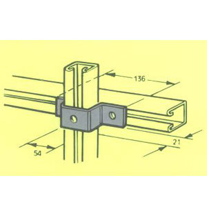 MB514 U BRACKET U400 FB-133 136mm X 21mm X 54mm