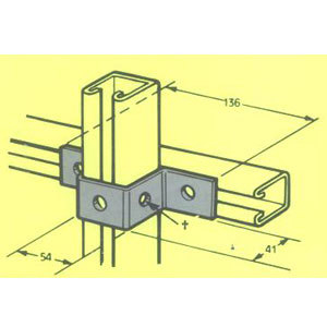 MB515 U BRACKET U401 FB-134 136mm X 41mm X 54mm