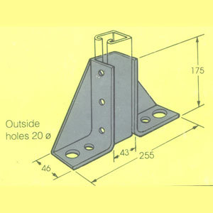 MB702 SINGLE CHANNEL GUSETTED BRACKET FB-109/41 CHGBP/005