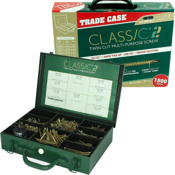 ASSORTED CLASSIC C2 CHIPBOARD SCREWS 1800 TRADE CASE C2SC