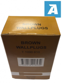 Brown Plastic Wallplug, Screw Size 4mm-6mm