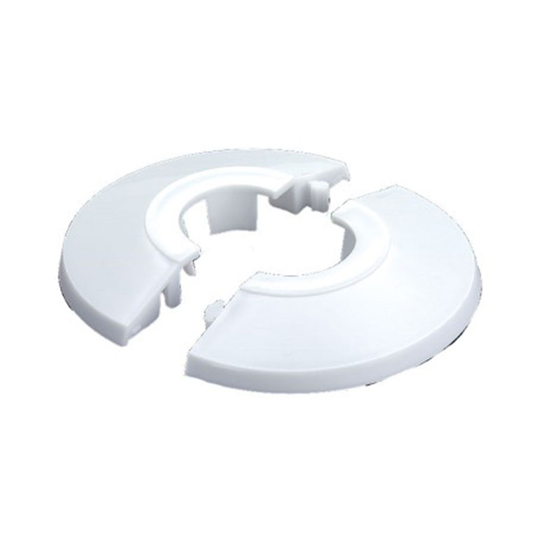 PIPE COVER CIRCULAR WHITE 15mm
