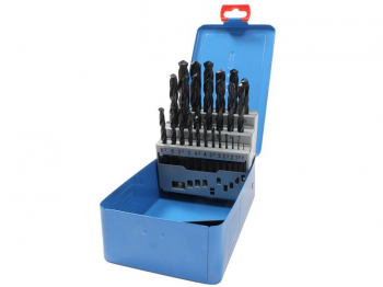 M25 HSS DRILL SET 1MM-13MM X.5 P/N 09598M25