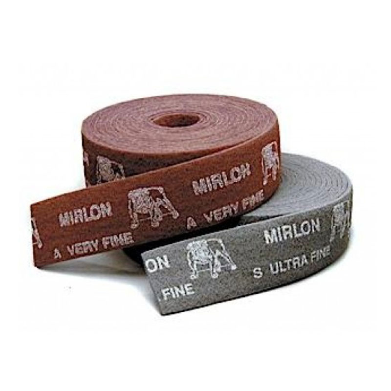 MIRLON NON-WOVEN ABRASIVE ROLL 100MM X 10MT RED (V.FINE)MIRKA