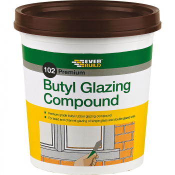102 BUTYL GLAZING COMPOUND BROWN 2KG EVERBUILD