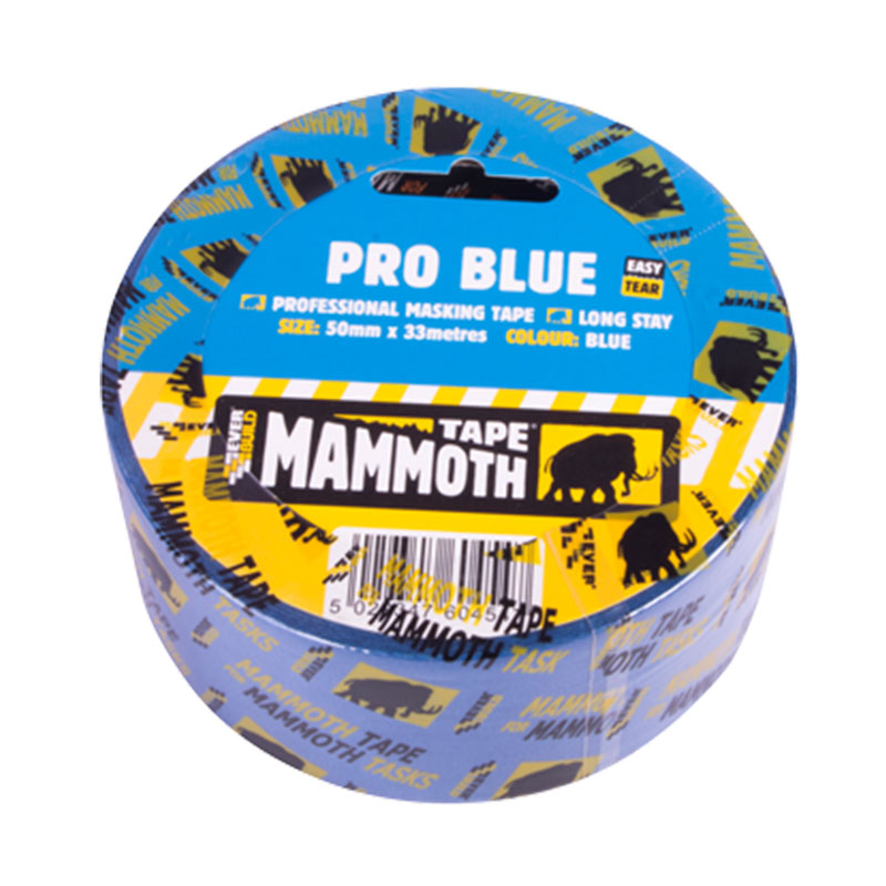 Everbuild Pro Blue Masking Tape Mammoth 25mm X 33mt