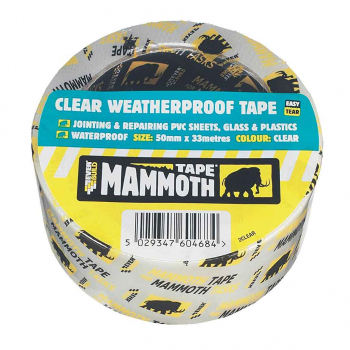 WEATHER PROOF CLEAR TAPE 50 X 10MT MAMMOTH