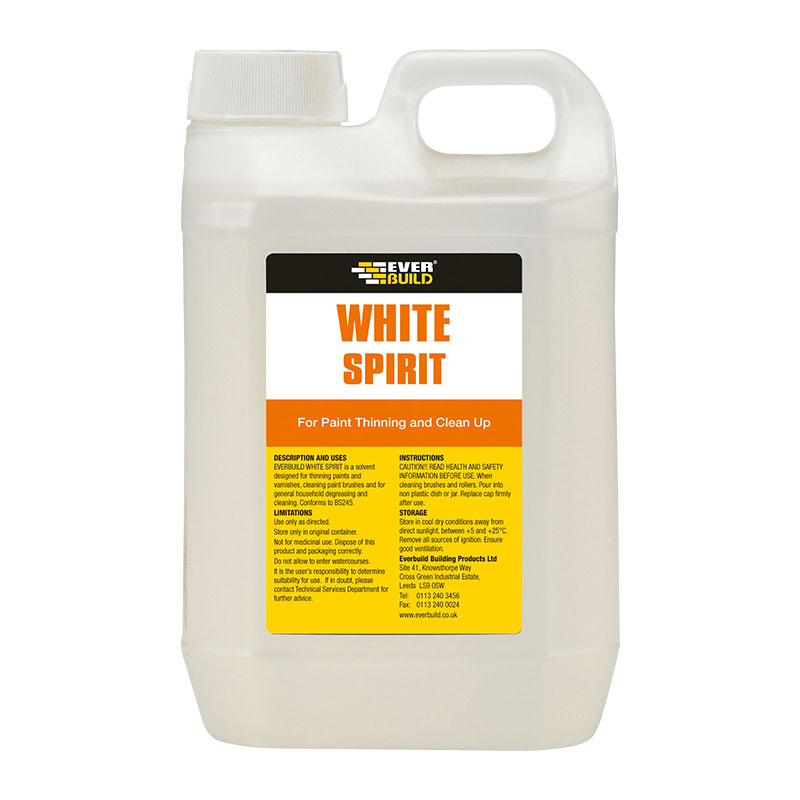 WHITE SPIRIT 4 LITRE EVERBUILD