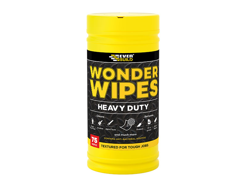 Everbuild Heavy Duty Wonder Wipes - Yellow Tub of 75