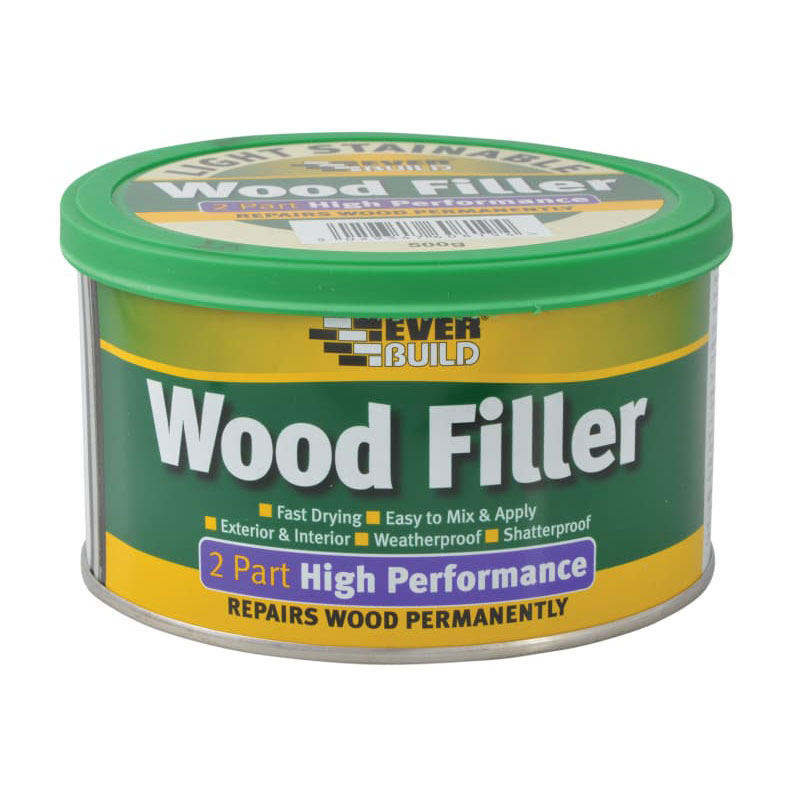 HI-PERF. 2-PART WOOD FILLER LIGHT STAINABLE 500G EVERBUILD