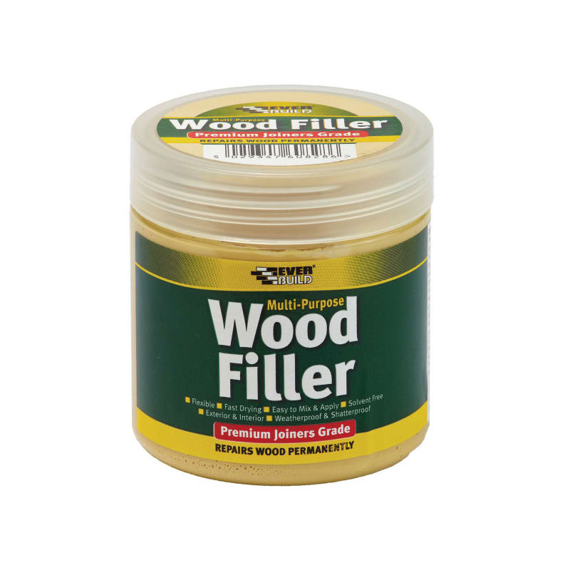 M.P. PREM.JOINERS WOOD FILLER STAINABLE MED 250ML EVERBUILD