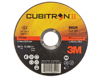 3M Cubitron II Cut-Off Wheel T41, 115mm x 1.0mm x 22.2mm
