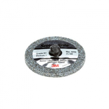 S/Brite Roloc Deburr an Finish PRO Wheel,76 x 6mm NH 6C MED+