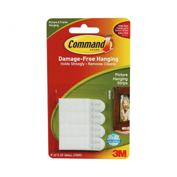 3M COMMAND SMALL STRIPS 17202
