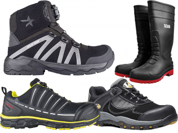 Laser Safety Hiker Black Boots
