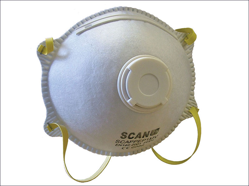 Scan Moulded Disposable Mask Valved FFP1