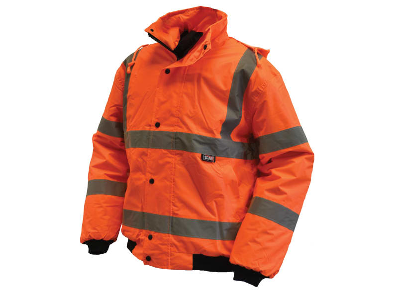 Scan Hi-Vis Bomber Jacket Orange
