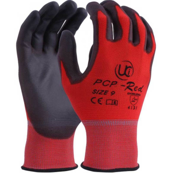 PU Coated Polyester Glove RED - PCP-RED