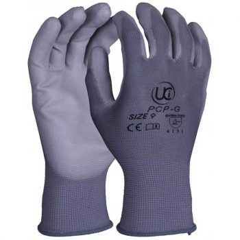 PU Coated Polyester Glove Grey - PCP-G