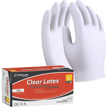 Latex Powerfree Disposable Gloves Clear