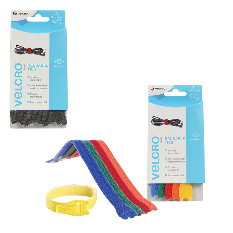 VELCRO® Brand ONE-WRAP® Reusable Ties 12mm x 20cm