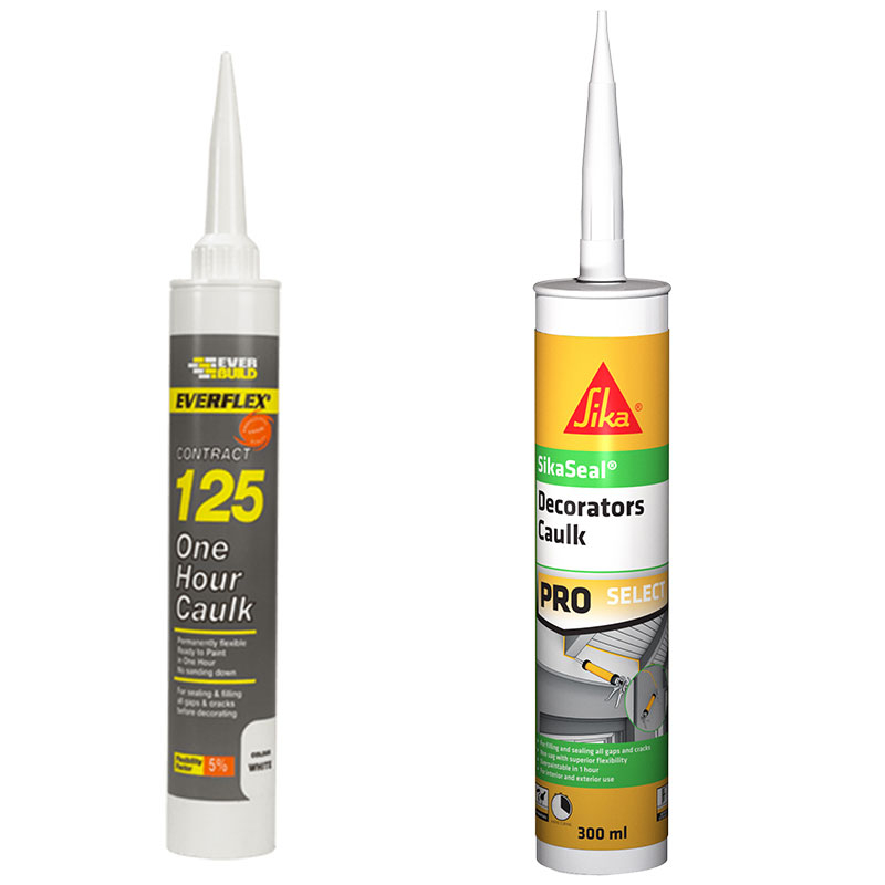 125 One Hour Caulk & SikaSeal Decorators Caulk