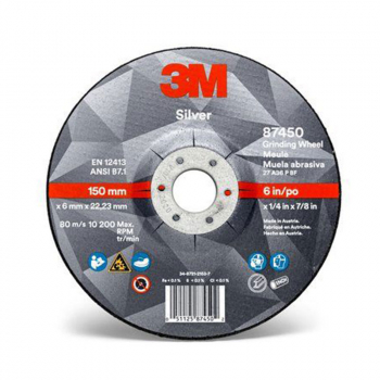3M<sup>(TM)</sup> Silver Depressed Center Grinding Wheel, T27