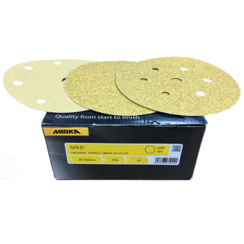 Mirka Gold Grip Discs Plain, 9Hole and 7Hole 150mm