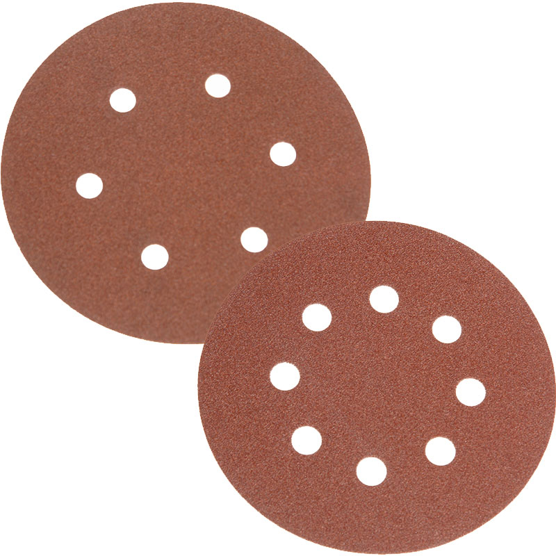 Faithfull Hook & Loop Sanding Discs Holed