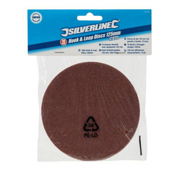 Silverline Hook & Loop Sanding Discs - Value Range (Pack 10)