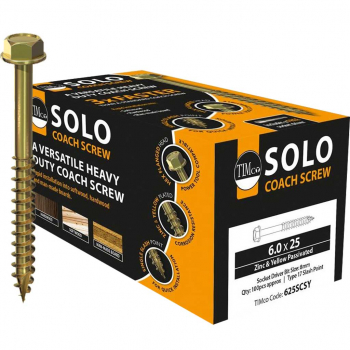 Solo Coach Screws - Hex Flange, Slash Point