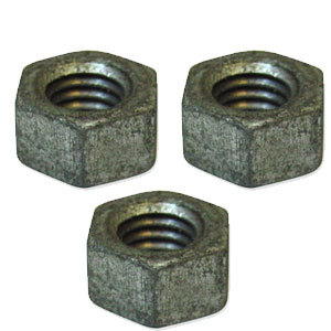 Full Nut Steel Galvanised Metric