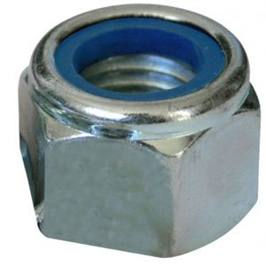 Nyloc Nut 'P' Type Steel Zinc Plated Metric