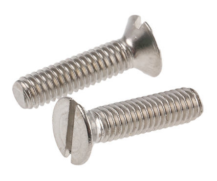 Machine Screw Countersunk Slot A2 Stainless Steel