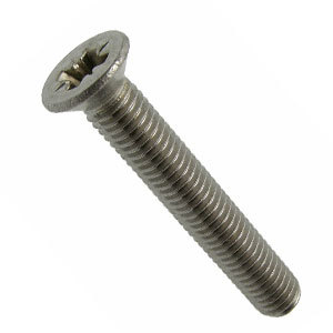 Machine Screw Countersunk Cross Recessed A4-316 Stainless Steel