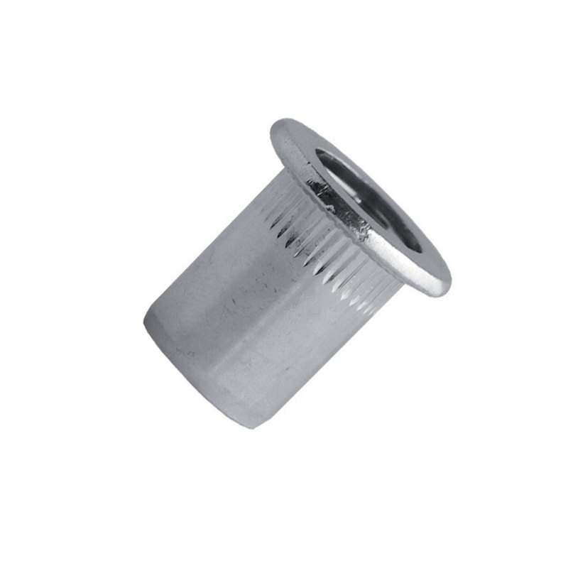 Blind Rivet Nut Steel Zinc - Cylindrical Head (Flange)