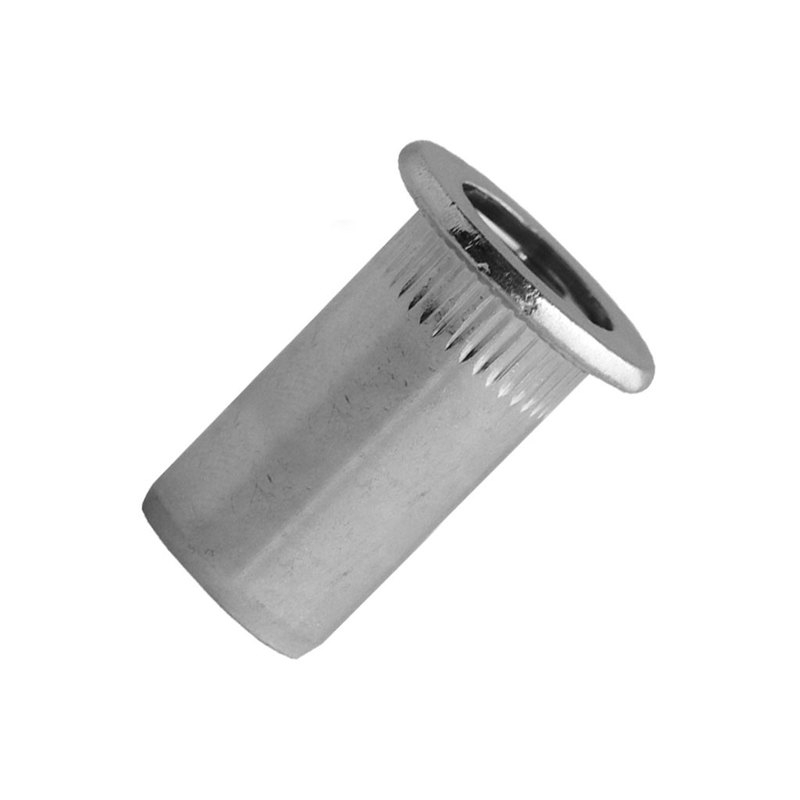 Blind Rivet Nut Steel Zinc - Closed End, Cylindrical Head (Flange)