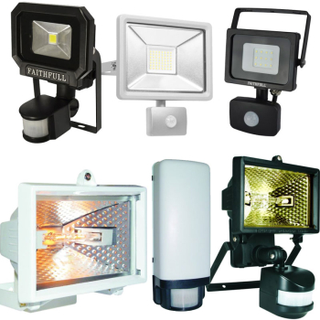 ES Halogen Floodlight with PIR