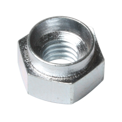 RIVET BUSH HEX STL ZINC M4 X 14G