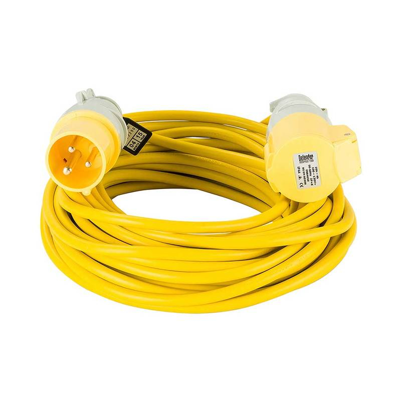 Defender 14mtr Extension Lead - 16A 2.5mm Cable - Yellow 110