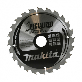 Makita Specialised Tip Embedded Blade 190 X 30 24T B-09422