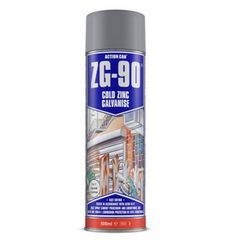 ZG-90 Cold Zinc Galvanising Spray 500ml Action Can - 1785