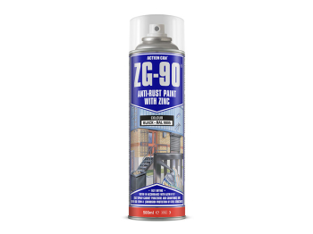 ZG-90 COLD ZINC/GALV BLACK 500ML SPRAY ACTION CAN