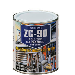 ZG-90 COLD ZINC/GALV 500ML TIN BRUSHING ACTION CAN P/N 2018